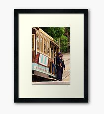 Cops on a Trolley- SFO Framed Print