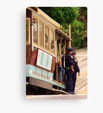 Cops on a Trolley- SFO Canvas Print