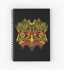 Psychedelic jungle demon Spiral Notebook
