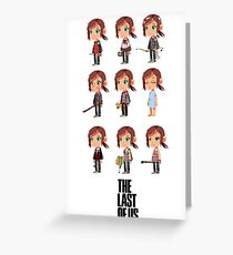 She was the first to go Greeting Card