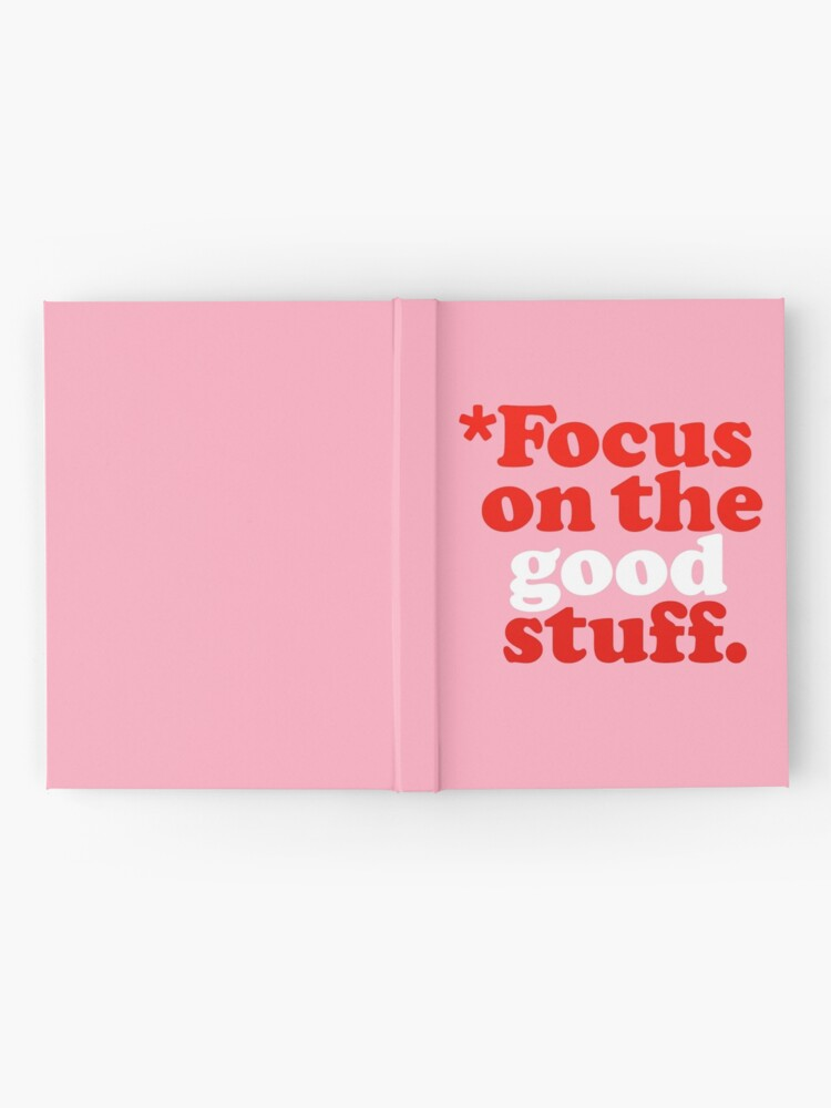 Alternate view of Focus On The Good Stuff {Pink & Red Version} Hardcover Journal