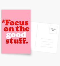 Focus On The Good Stuff {Pink & Red Version} Postcards