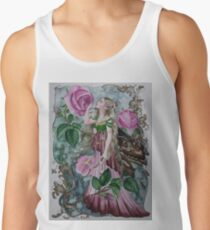 'Golden wings'pink rose fairy faerie butterfly  Tank Top