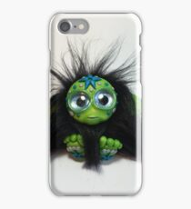 Green Polymer Clay Troll with Accents iPhone Case/Skin