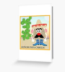 Mexican Mr. Potato Head Greeting Card