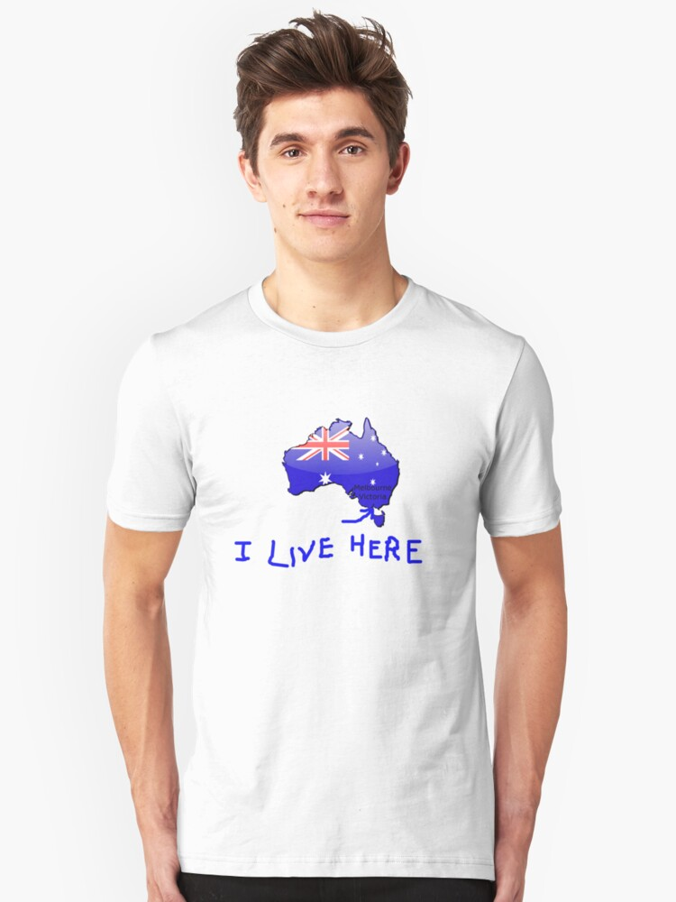I Live Here - Melbourne VIC version T-Shirt by Craig Stronner