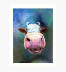 Colorful Cow Art Print