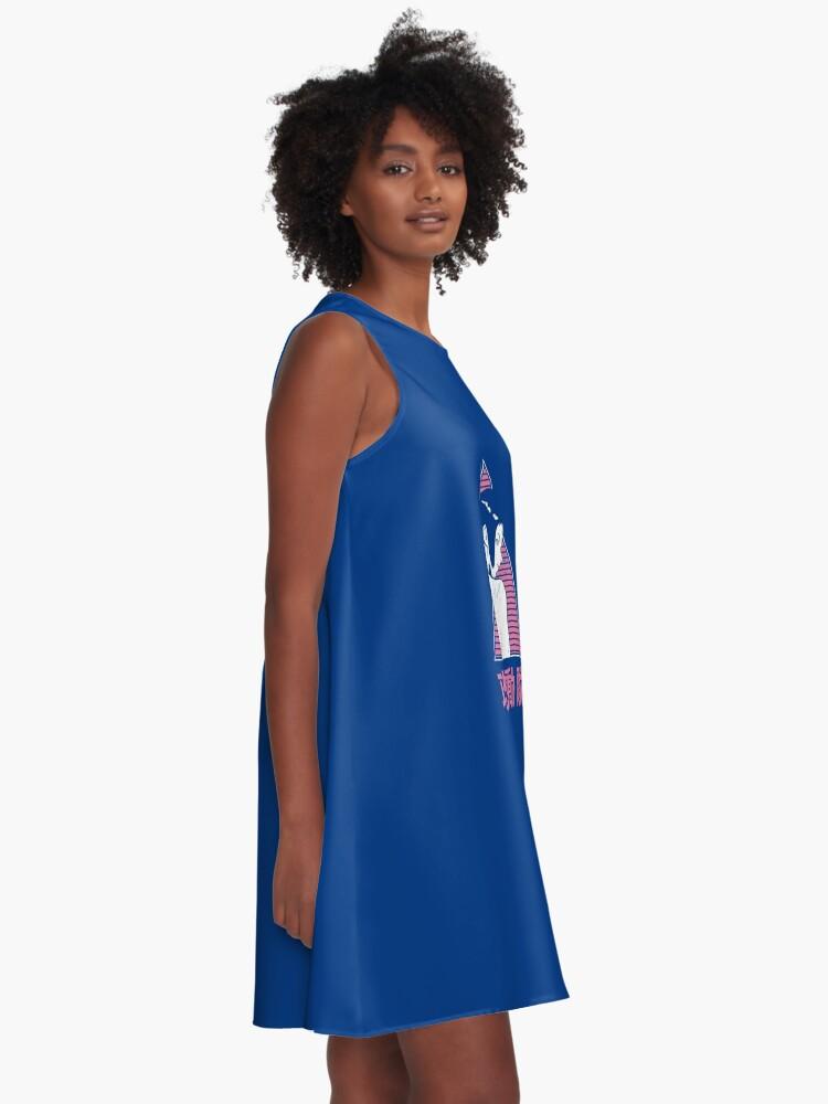 Alternative Ansicht von 025 GITS pink A-Linien Kleid