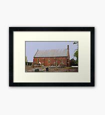 Anglican Church St. Johns, Plenty, Tasmania 1852 Framed Print