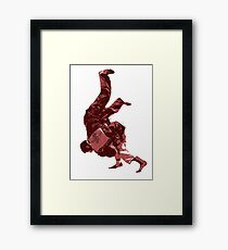 Judo Throw in Gi Red Framed Print
