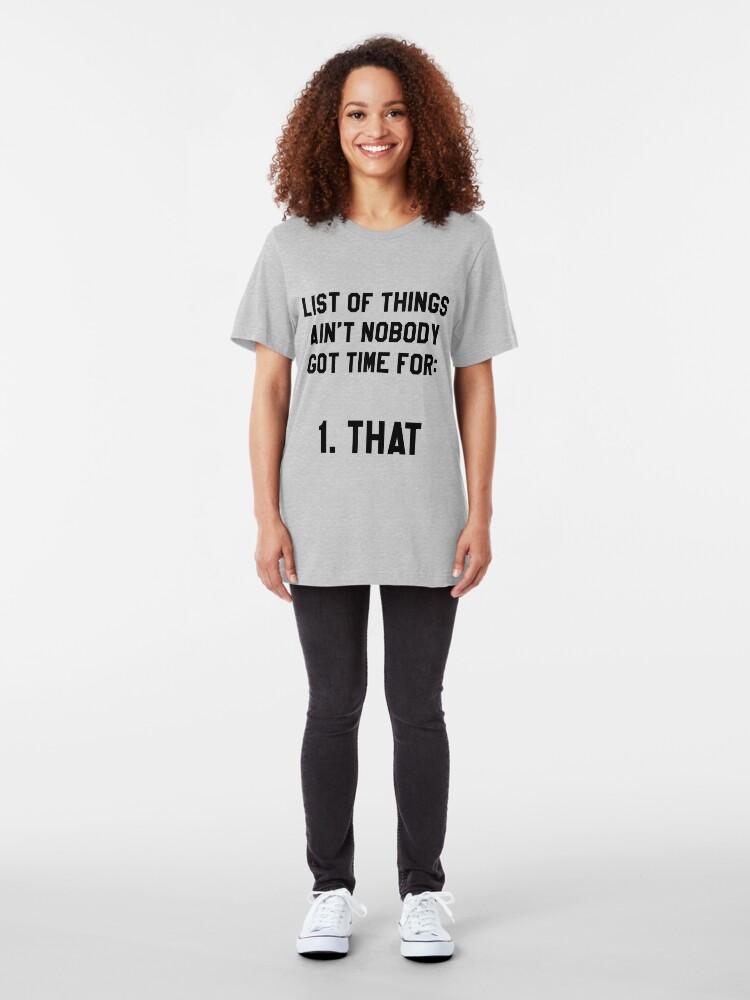 Alternative Ansicht von Hat niemand Zeit dafür! Lustig / Hipster Meme Slim Fit T-Shirt