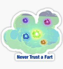Rick And Morty-- Never Trust A Fart Sticker