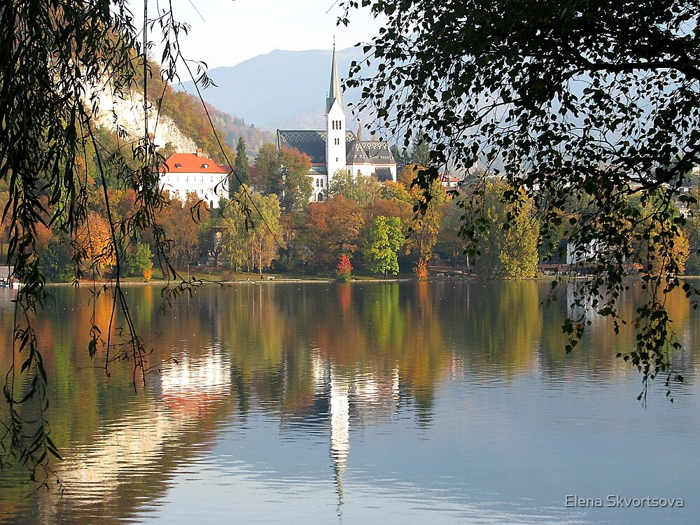 Autumn on Lake Bled by Elena Skvortsova