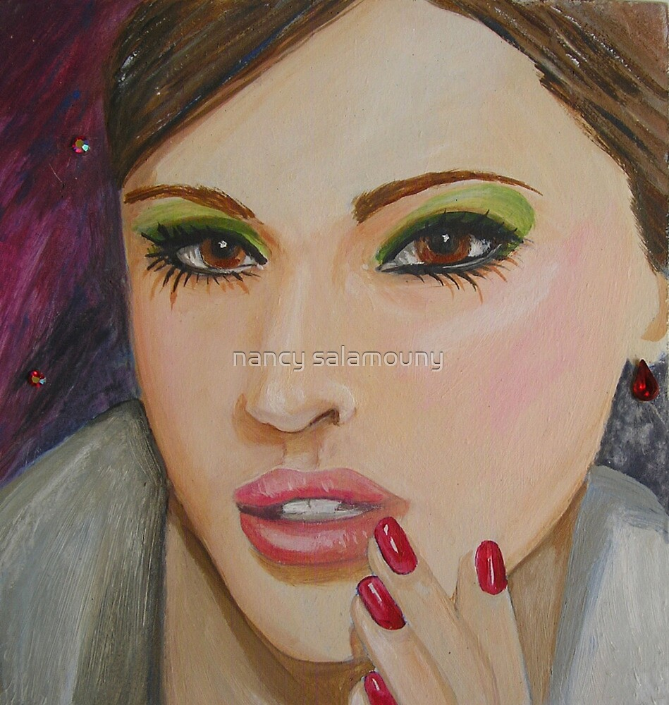 Red Polish by nancy salamouny