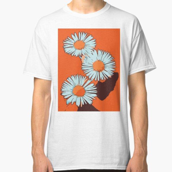 Daisies orange flower poster WelikeFlowers Classic T-Shirt