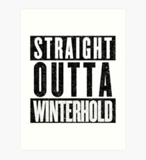 Adventurer with Attitude: Winterhold Art Print
