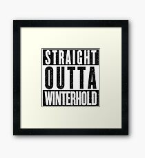 Adventurer with Attitude: Winterhold Framed Print