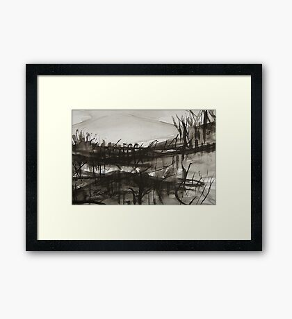 finding ones way while marching with the devil in broad daylight Framed Print