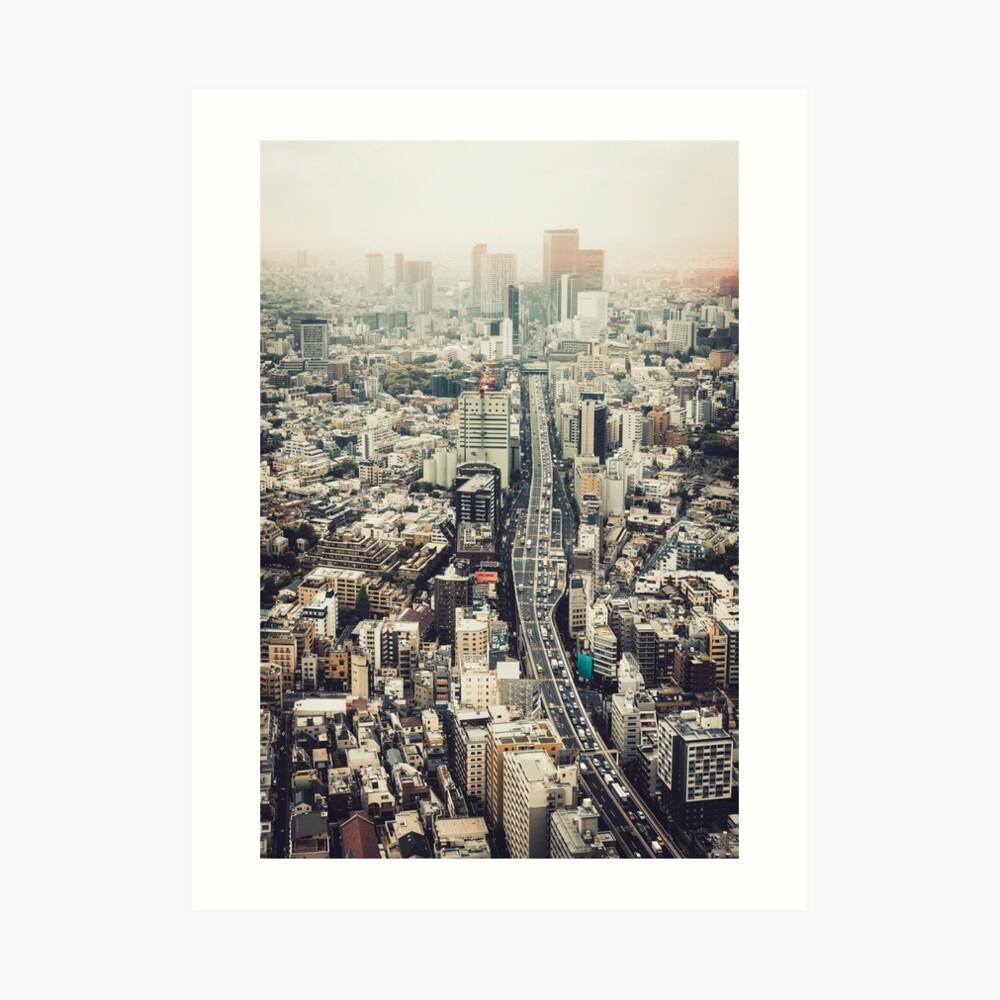 Von Shibuya nach Roppongi Kunstdruck