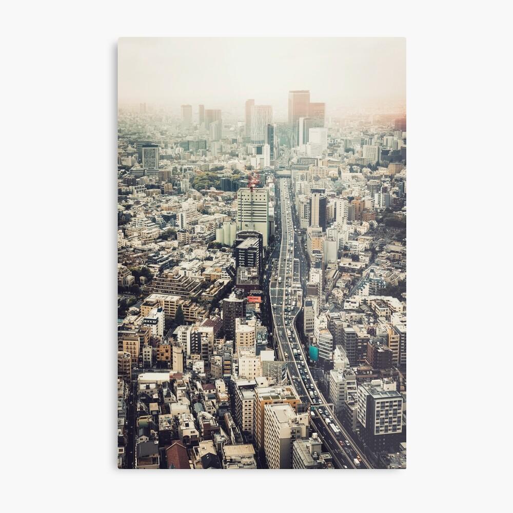 From Shibuya to Roppongi Metal Print