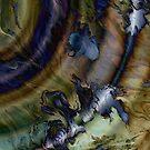 Gravity Waves: fluid acrylic pour painting digital art by kerravonsen