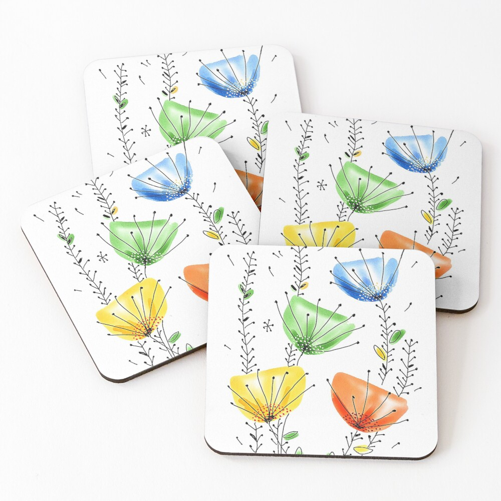 Wildflowers Coasters (Set of 4)