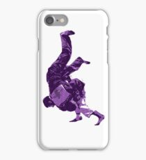 Judo Throw in Gi Purple  iPhone Case/Skin