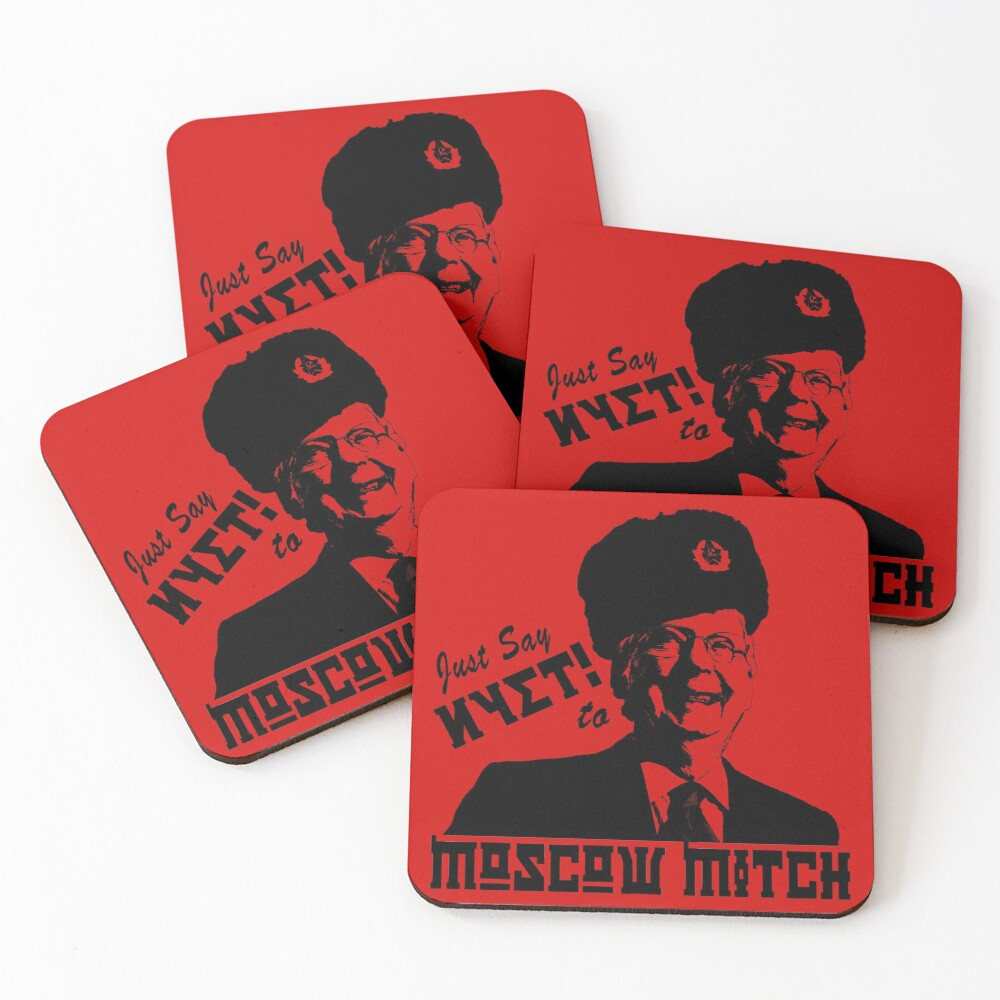 Just say NYET to Moscow Mitch Coasters (Set of 4)