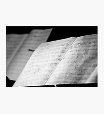 Jazz Notes Photographic Print