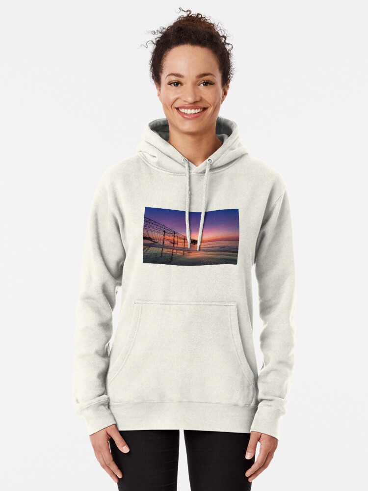 Alternate view of  Totland Pier Caught In The Afterglow Pullover Hoodie