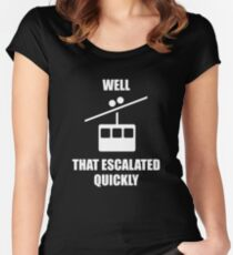 Well That Escalated Quickly Women's Fitted Scoop T-Shirt