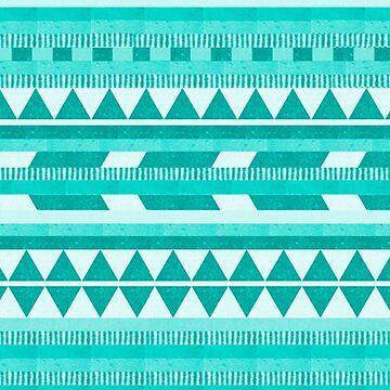 Mint Aztec  by goodsenseshirts