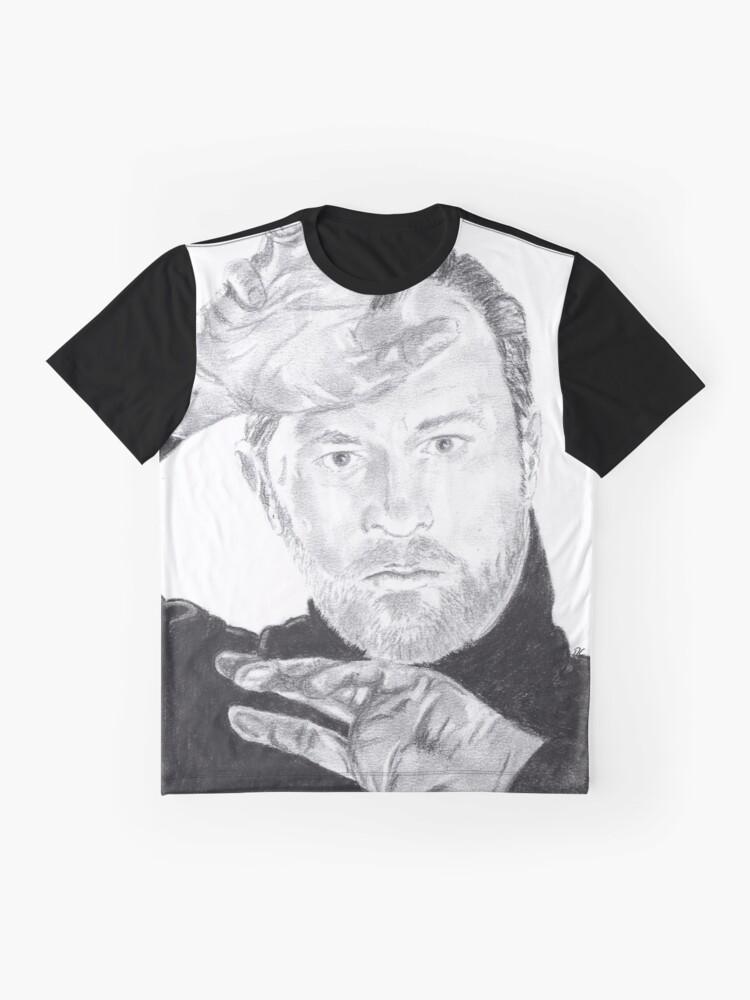 Alternative Ansicht von Mark Gatiss Grafik T-Shirt