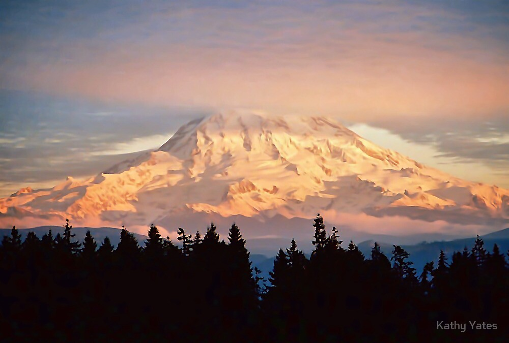 Sunset on the Mountain by Kathy Yates