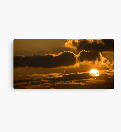 Sunset in the heavens Canvas Print