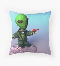 Cute lil Alien Throw Pillow