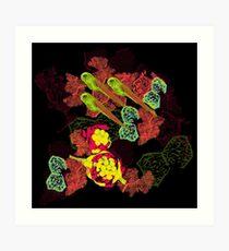Zebrafish Fluorescent Staining Art Print