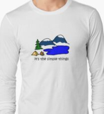 Camping - Simple Things Long Sleeve T-Shirt