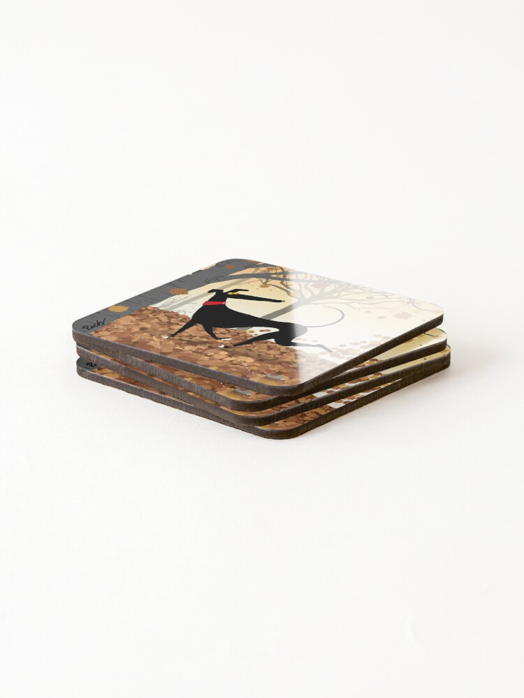 Alternate view of Autumn Hound Coasters (Set of 4)