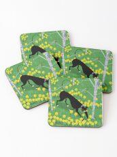 Daffodil Hound Coasters