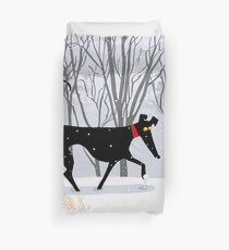 Winter Hound  Duvet Cover