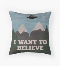 X-Files Twin Peaks mashup Throw Pillow