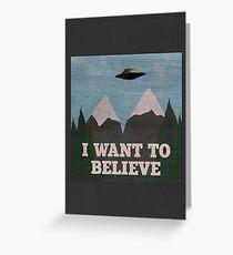 X-Files Twin Peaks mashup Greeting Card