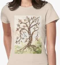 The Tree of Contemplation Women's Fitted T-Shirt