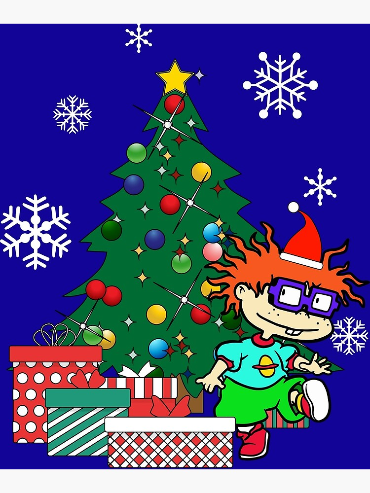 Rugrats Christmas.Chucky Rugrats Around The Christmas Tree Greeting Card