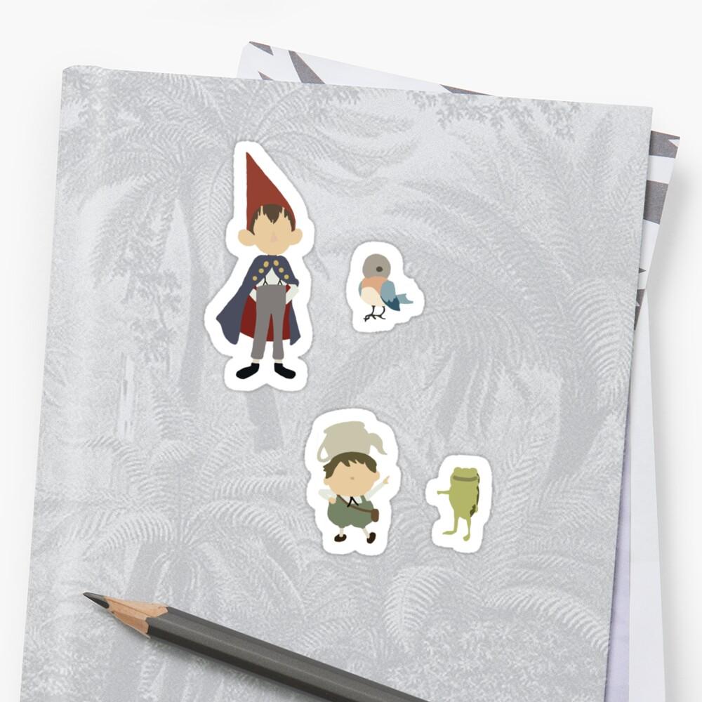 Mini Minimalistic Over the Garden Wall Sticker