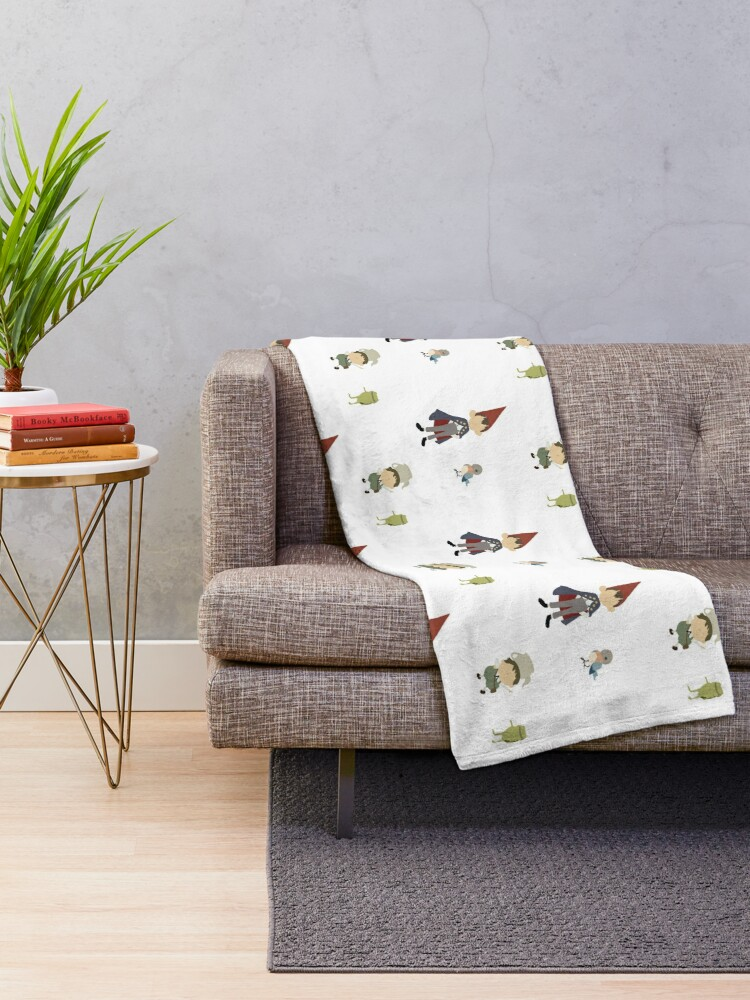 Alternate view of Mini Minimalistic Over the Garden Wall Throw Blanket