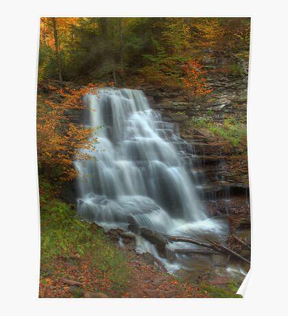 Erie Falls (in Autumn) Poster