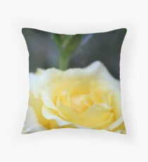 Yellow Rose With A Terry Twist Throw Pillow