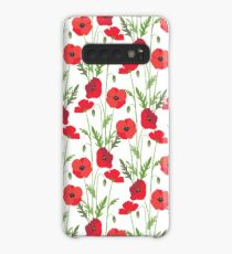 Red Poppies Case/Skin for Samsung Galaxy